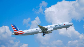 American Airlines A321 test flight
