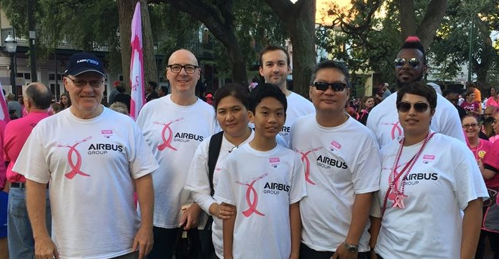 Airbus helps makes strides against cancer