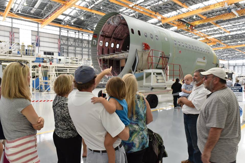 Family day at Airbus Mobile