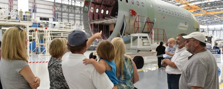 Family Day at the Airbus Mobile Facility