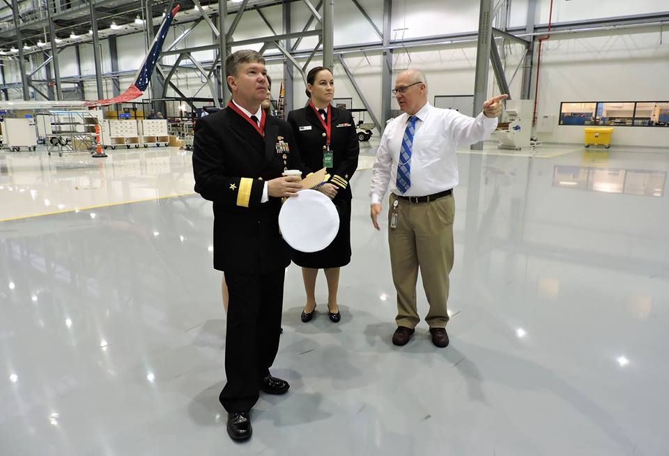 Rear Admiral Thomas Ishee visits Airbus Mobile