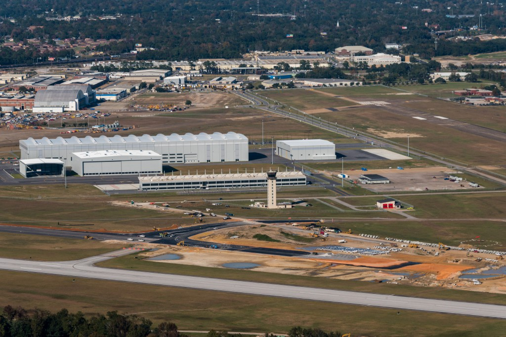 HOAR101- Aerial Photos of the Assembly Line Mobile Airbus FAL at Brookley