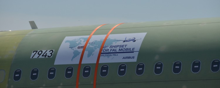Airbus U.S. Manufacturing Facility Receives 50th Shipset