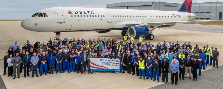 We've Delivered Our 50th U.S. A320 Family Aircraft