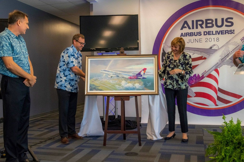 A Commemorative Painting for Hawaiian Air