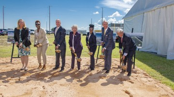 Flight Works Ground Breaking at Brookley Aeroplex