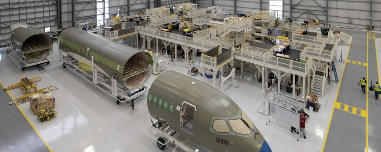 A220 Production Hangar Opens in Mobile