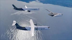 ZEROe concept aircraft - formation flight